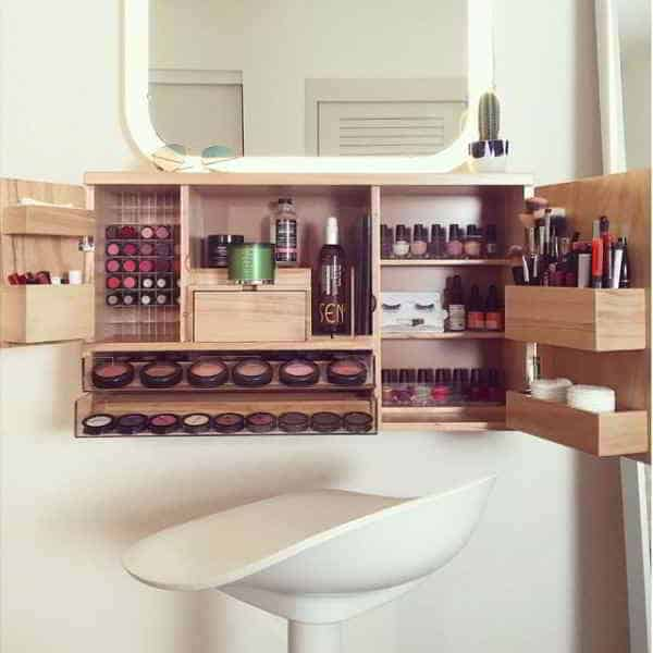 Makeup Wall Storage Ideas