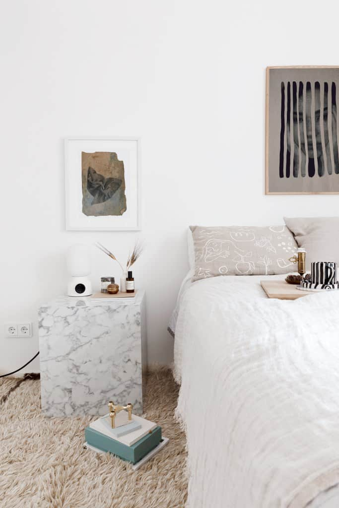 Marble Cube Small Nightstand Ideas