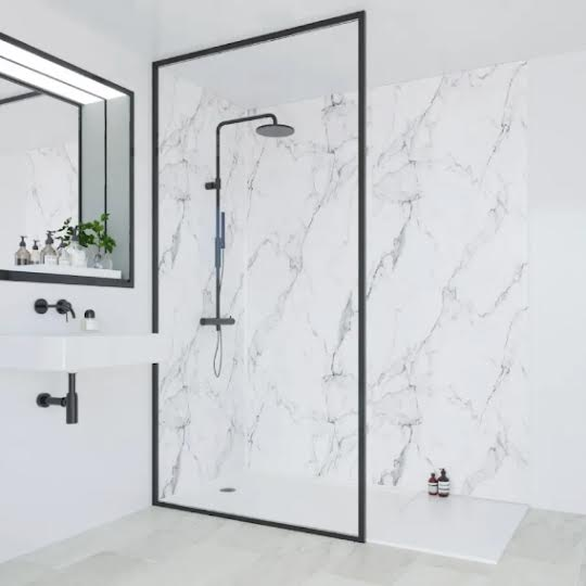 Marble DIY Shower Wall Panels