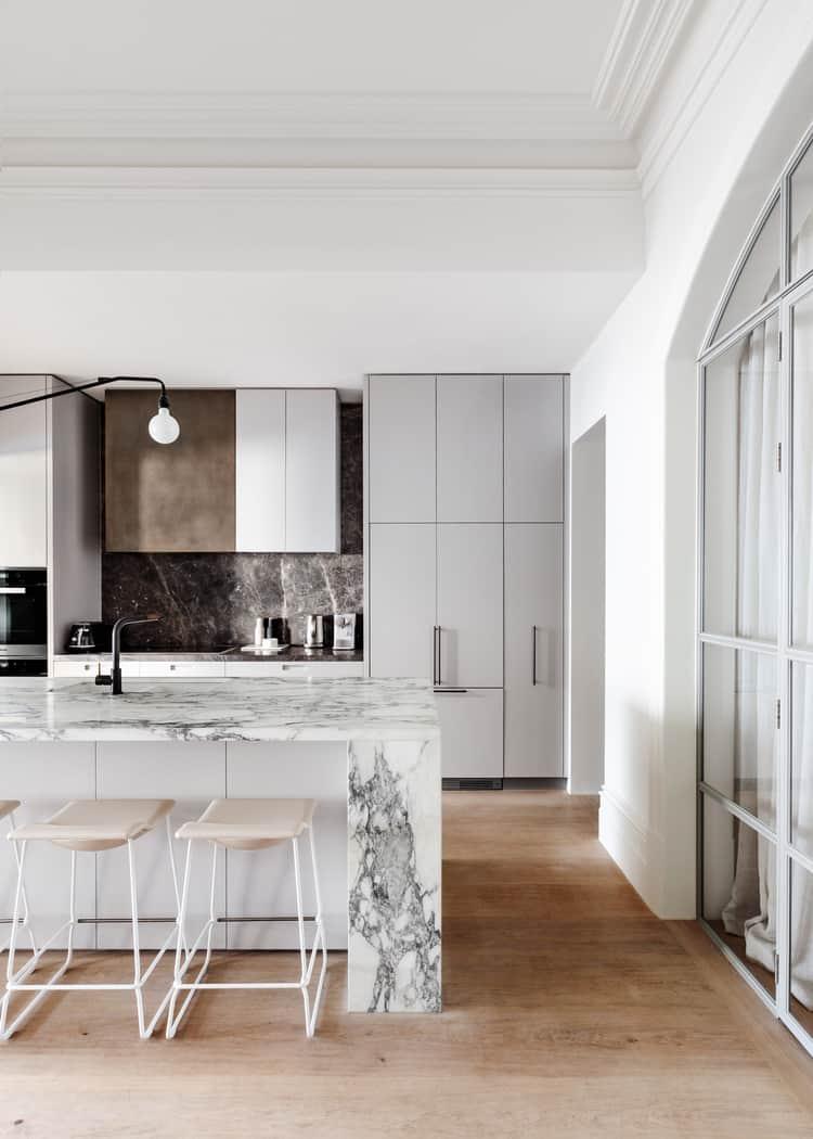 Marble Touch for Mid Century Modern Kitchen