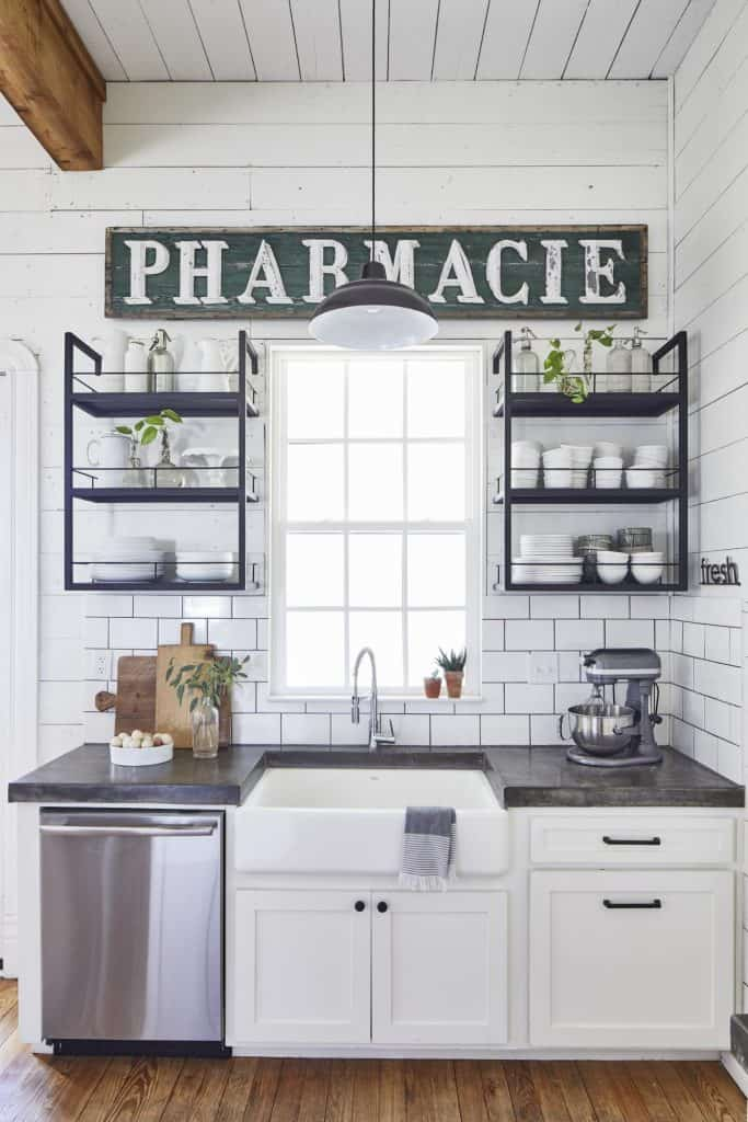 Metal Open Kitchen Shelving