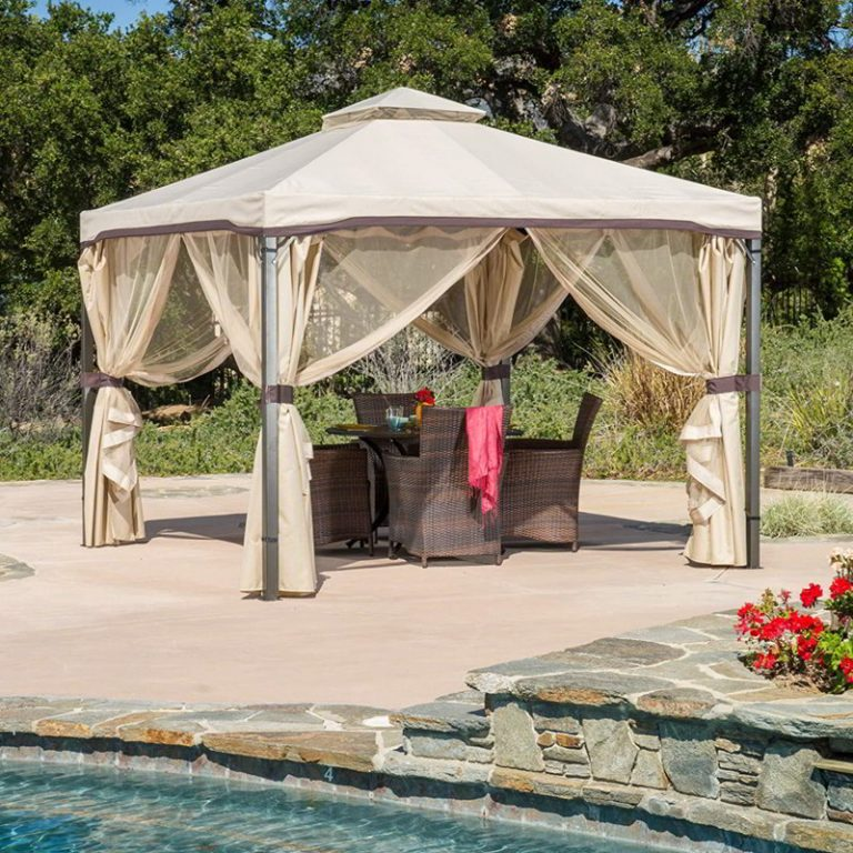 Metal Pool Cabana Ideas