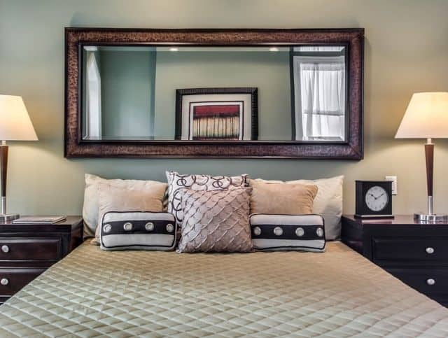 Mirror Headboard Above The Bed