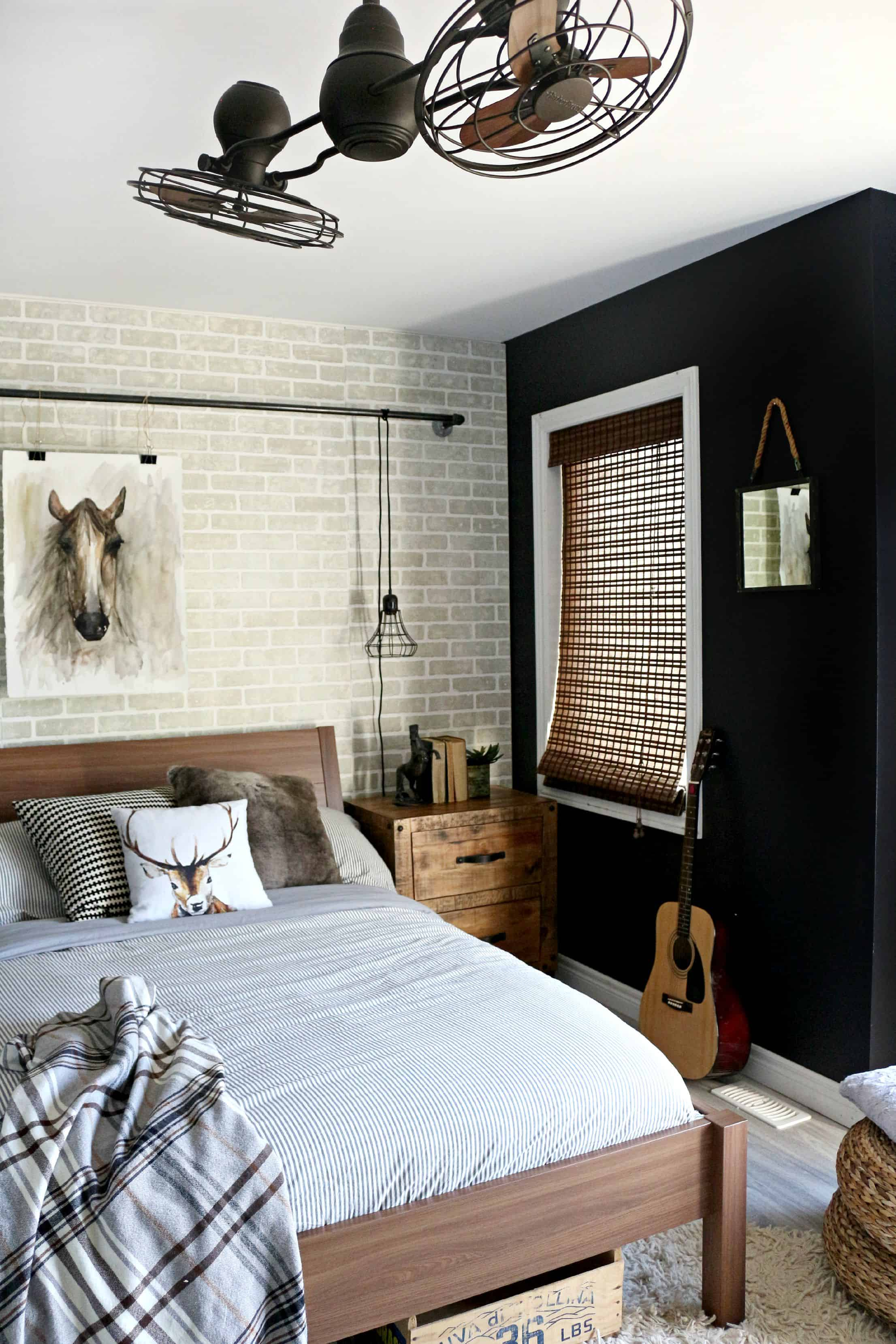 Mix and Match Industrial Bedroom