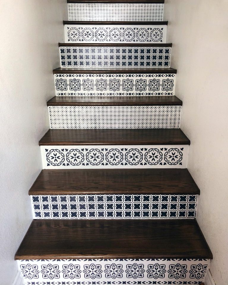 Painted Staircase Ideas - Modern Boho Style Patterns