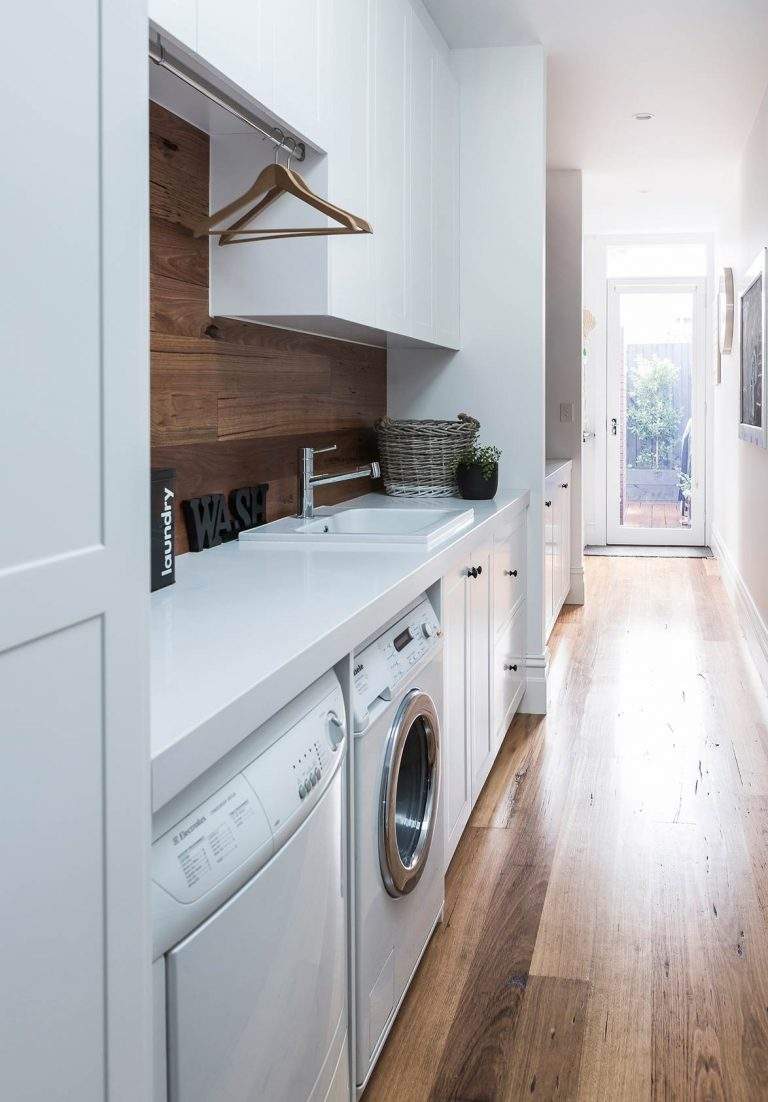 Modern-Classic Laundry Room