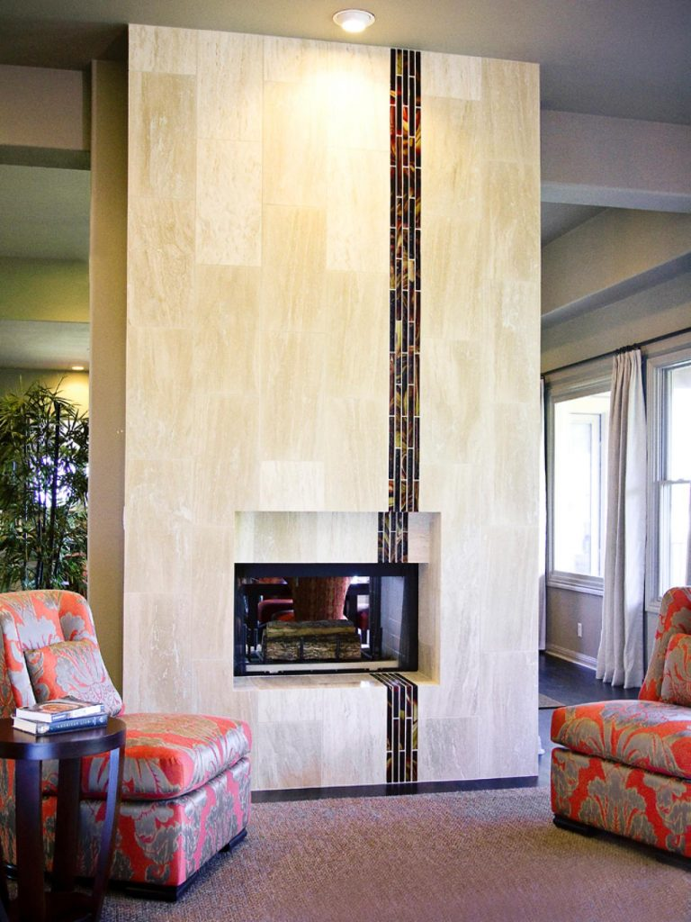 Modern and Simple Fireplace Tiles
