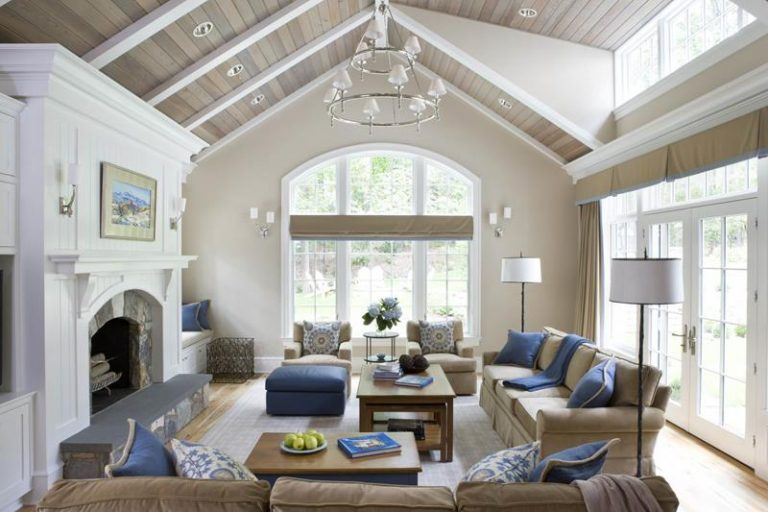 Modern Rustic Mansion Living Rooms