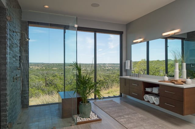 Modern Shower With Natural View