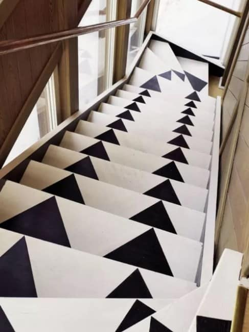 Monochrome Painted Stairs