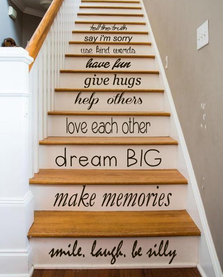 Painted Staircase Ideas - Motivational Staircase Painting