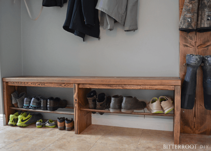 Mudroom Bench With Shoe Rack