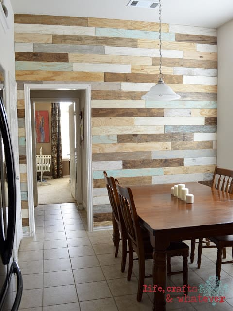 Multi color Wood Accent Wall Ideas