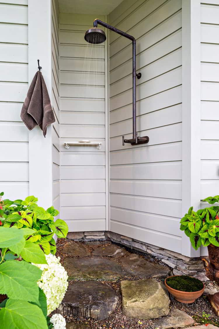 Narrow Outdoor Shower