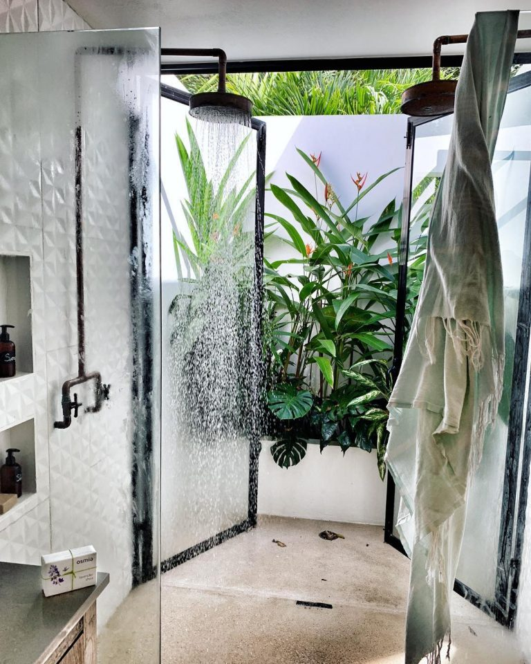 Natural Outdoor Shower