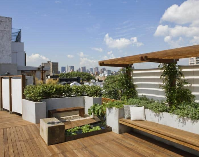 Natural Rooftop Deck