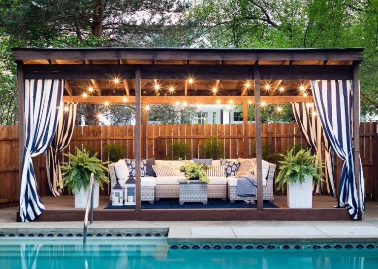 Nautical Pool Cabana Ideas