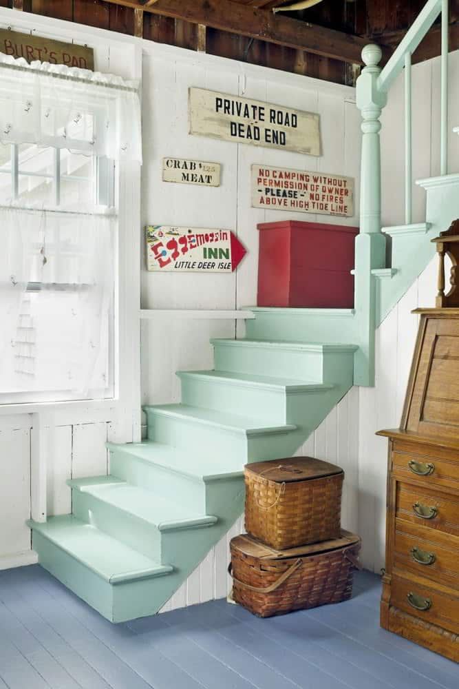 Nautical Touch Painted Stairs