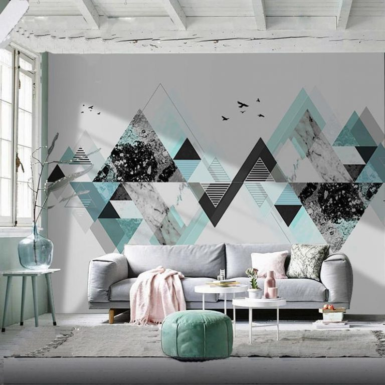 Nordic Geometric Wall Paint