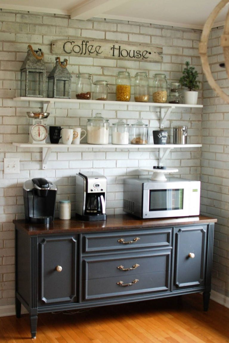 Open Shelving Coffee Bar Ideas