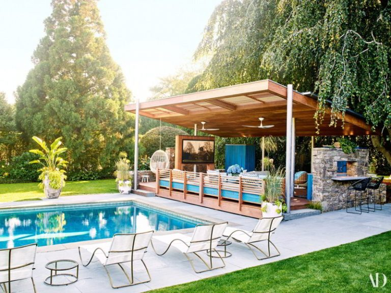 Open Space Pool Cabana Ideas