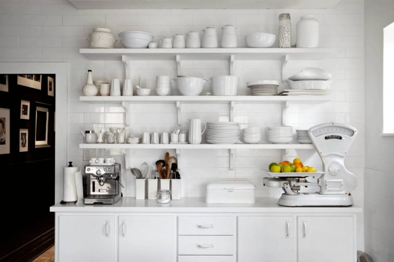 Open-shelving White Cabinets