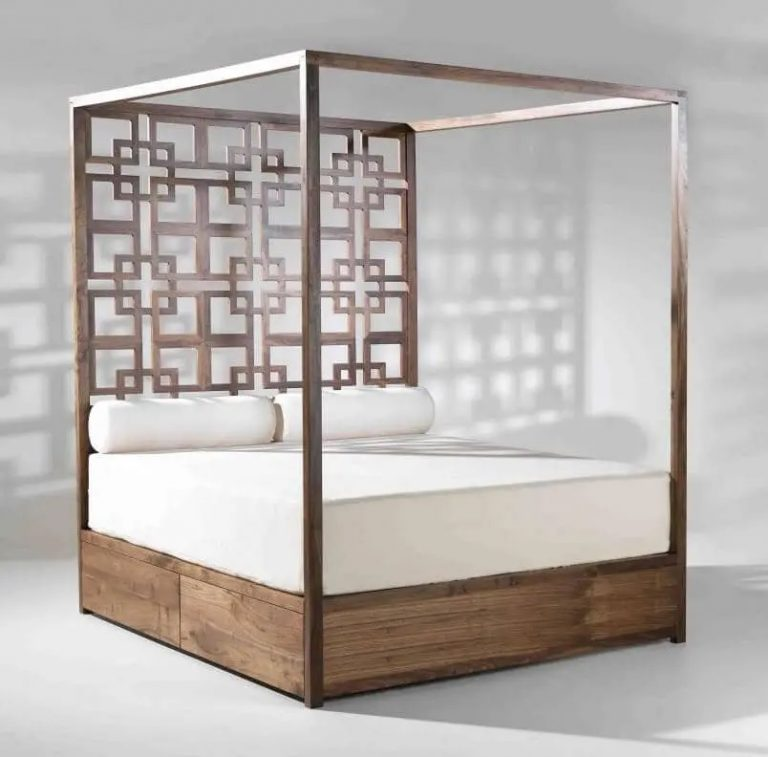 Oriental Cool Wooden Bed