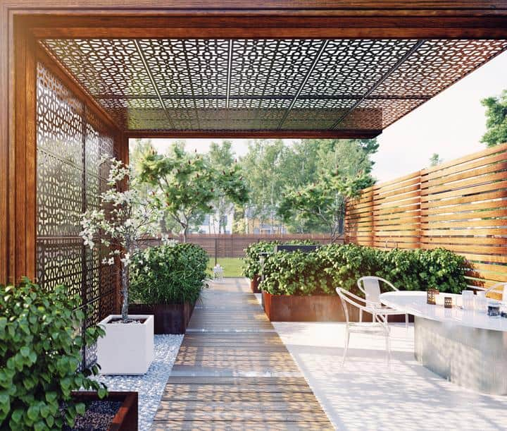 Outdoor Modern Privacy Screens