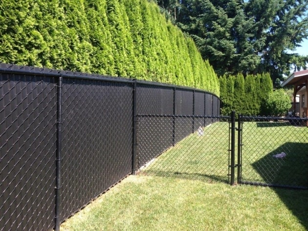 Outdoor Privacy Screen for Chain Link Fence