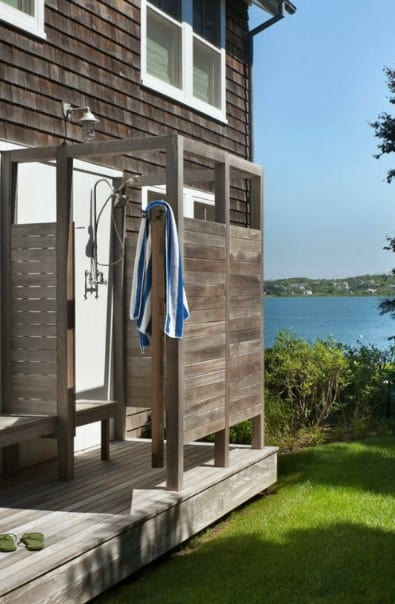 Outdoor Shower By The Lake