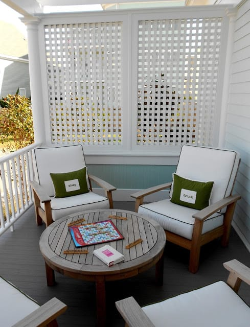 Outdoor White Privacy Screens