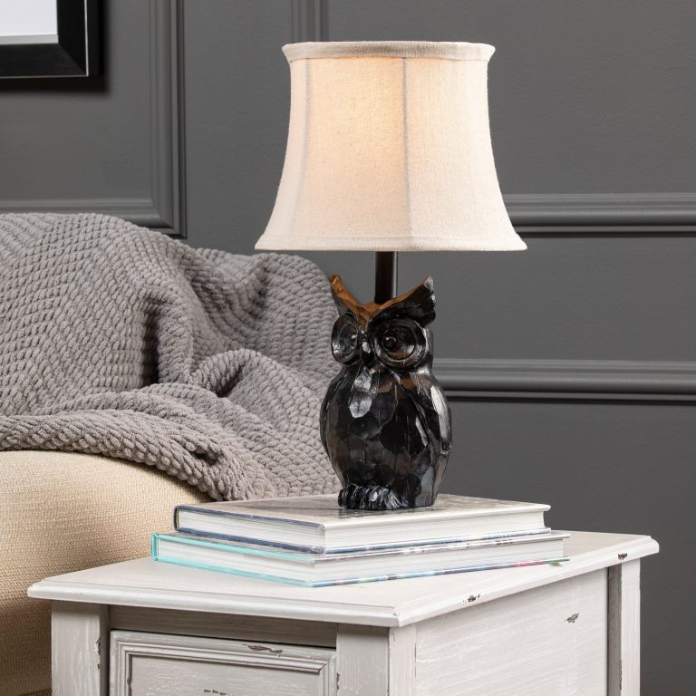 Owl Decor Resin Table Lamps