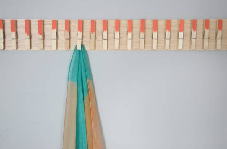 Painted Clothespin Scarf Holder