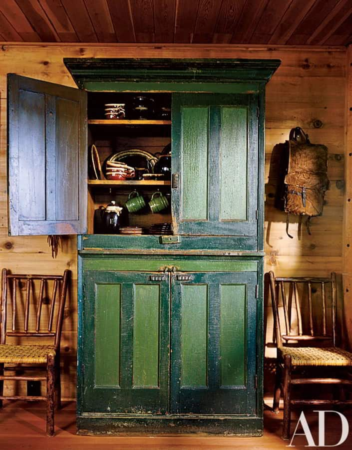 Painted Rustic Cupboard Kitchen Cabinet