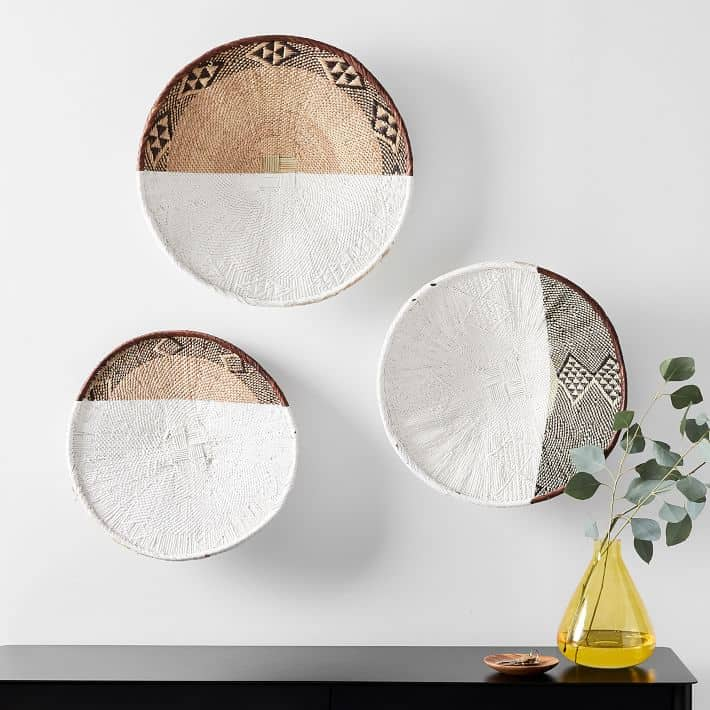 Painted Wall Baskets
