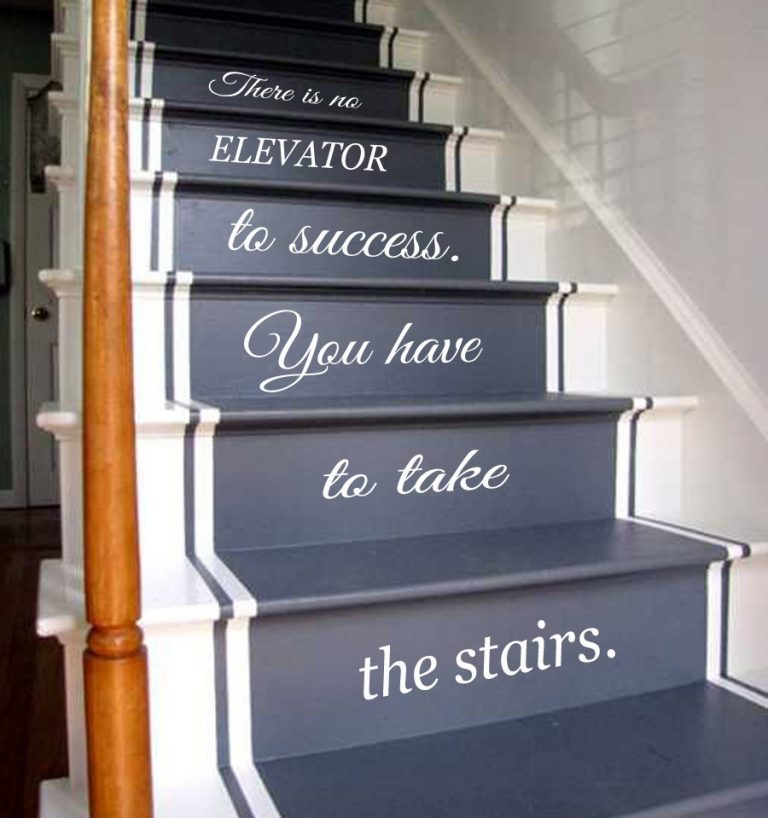 Painted Stairs Ideas - Painting and Lettering Staircase