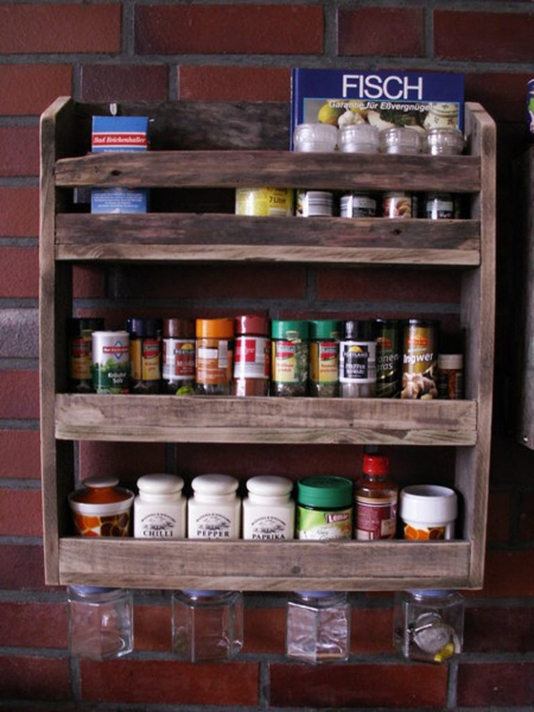 Pallet Open Kitchen Shelving