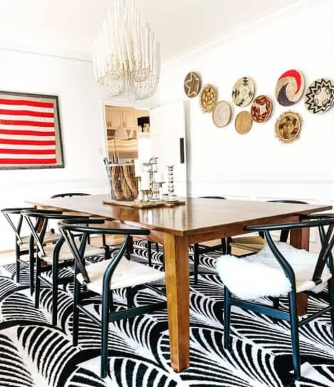 Patterned Wall Baskets For Dining Room