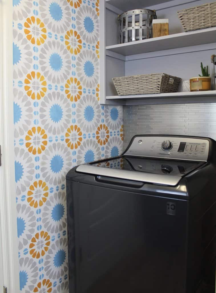 Patterned Wall Laundry Room Ideas