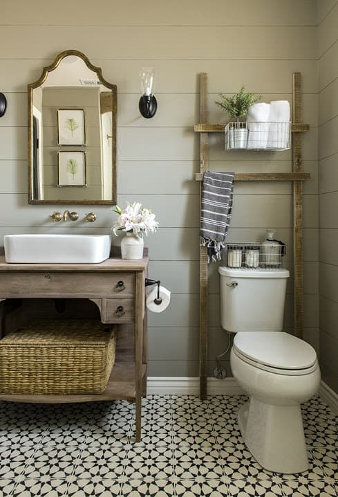 Penny Tiles Flooring Farmhouse Bathroom Decor Ideas