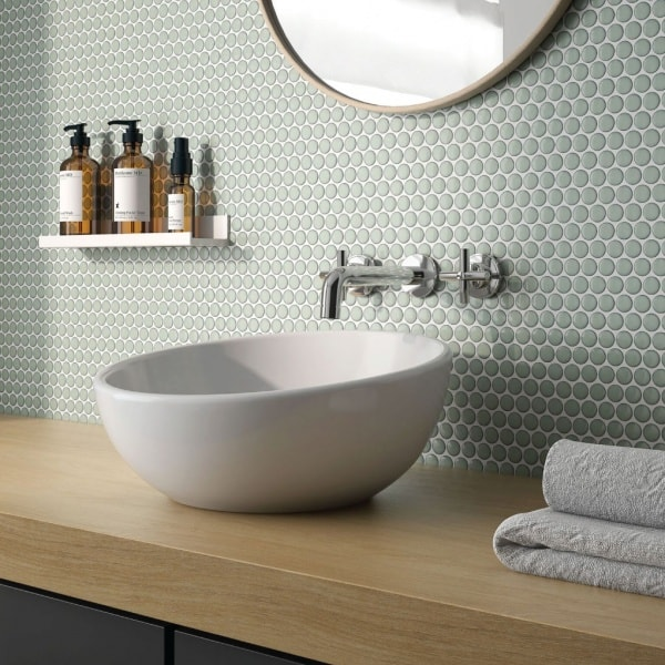 Penny Tiles Round Mosaic