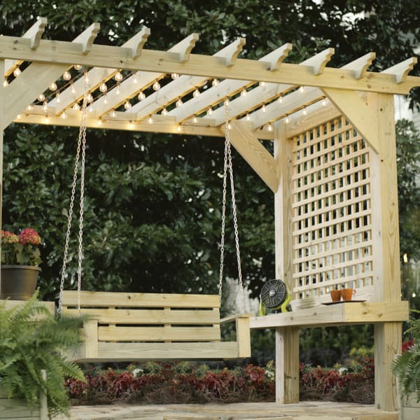 Pergola Plans with String Lights