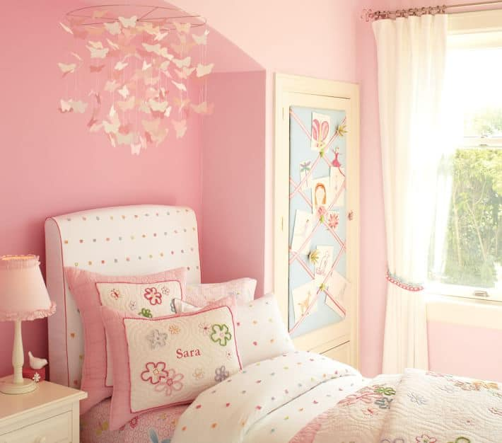 Pink Ceiling Butterfly Decorations