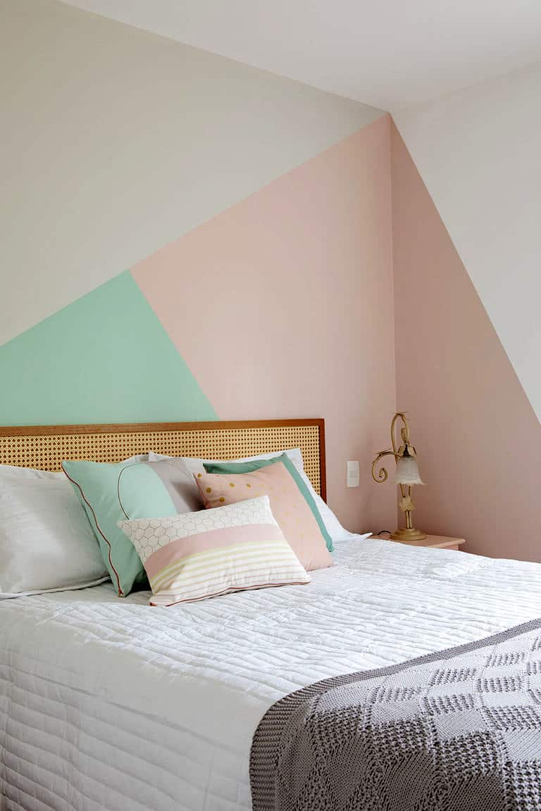 Pink Corner Geometric Wall Paint