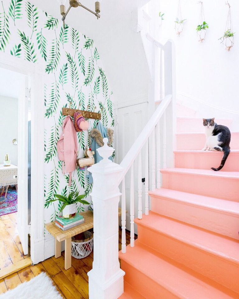 Pink Painted Stairs