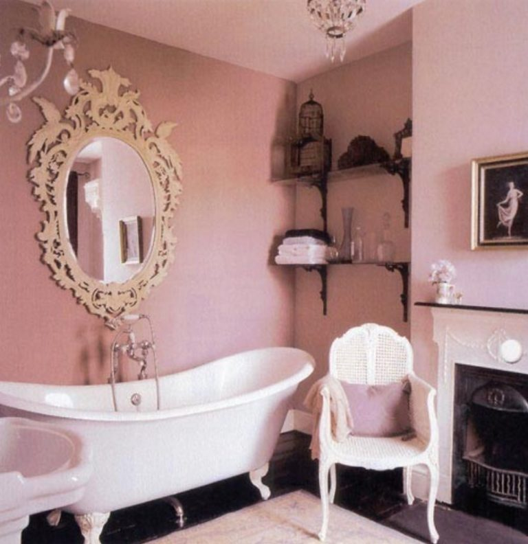 Pink Shabby Chic Bathroom