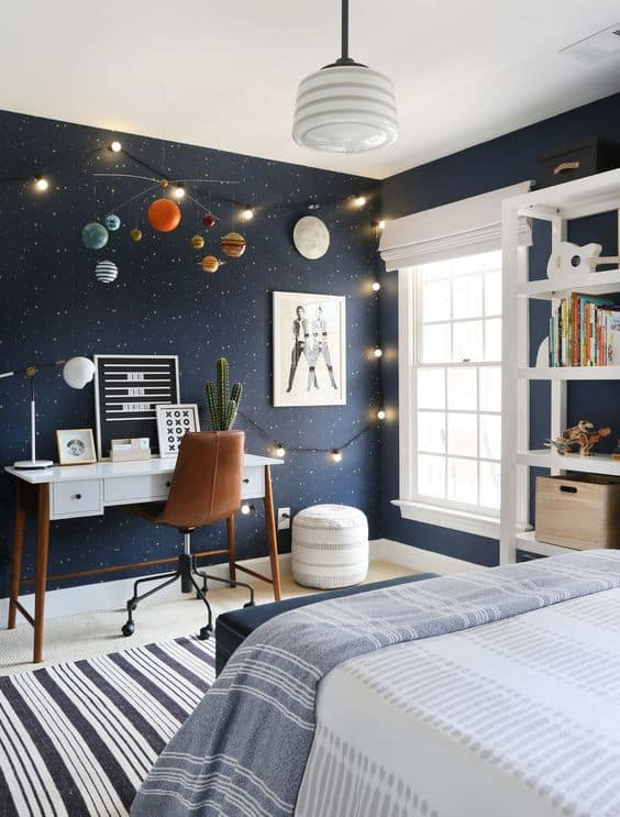Planet Ceiling For Space Themed Bedroom