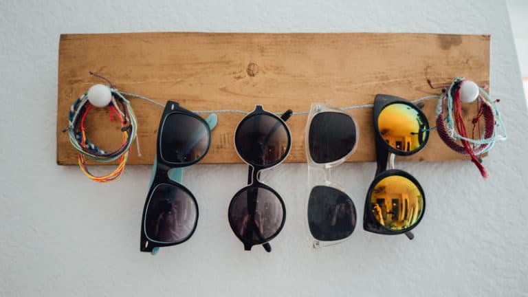 Plywood And Wire Sunglasses Holder