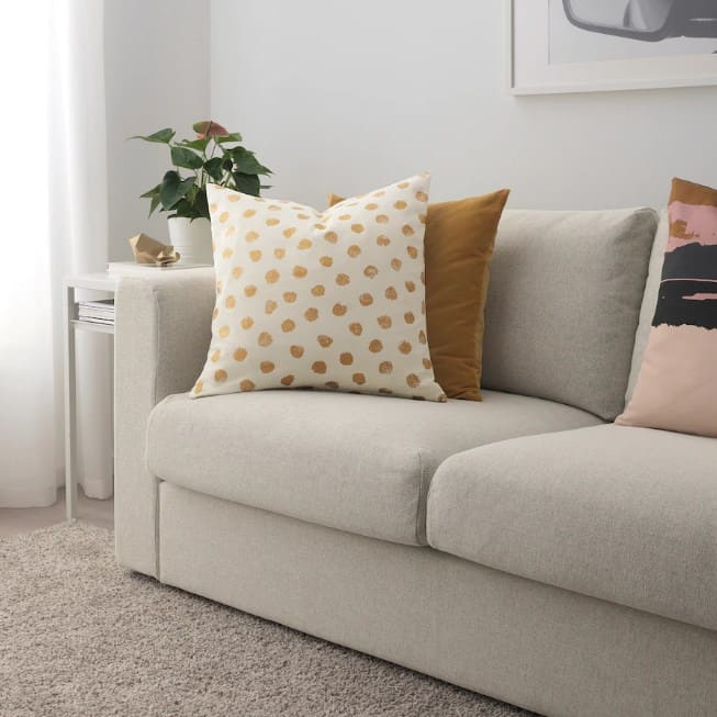 Polka Dot Pillow Ideas For A Gray Couch