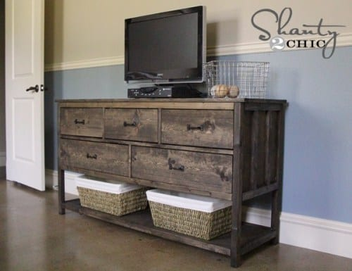 Pottery Barn DIY TV Stand Ideas